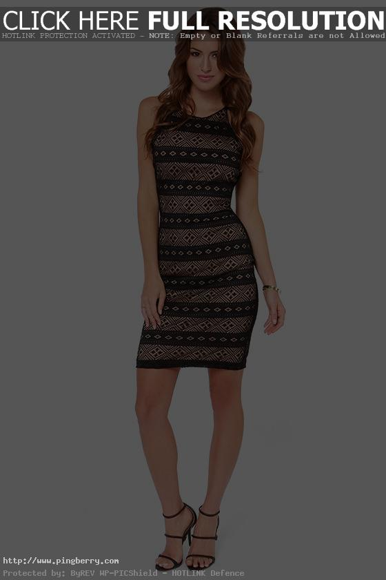 Black Contemporary Lace Dress